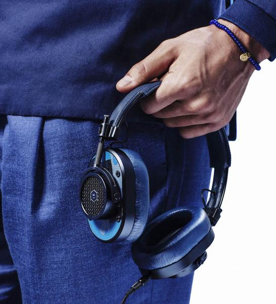 Blue Master & Dynamic headphones, shop now, The Rake